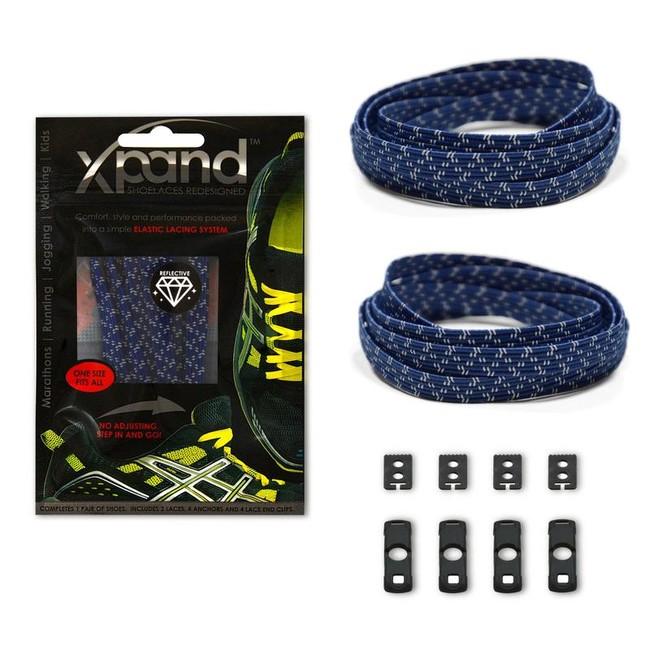 XPand Elastic Reflective - šnúrky do tenisiek bežecké doplnky ... c9f4b13c8ef