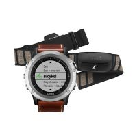Garmin Fenix 3 Sapphire, Silver Leather Performer Bundle HRM Run