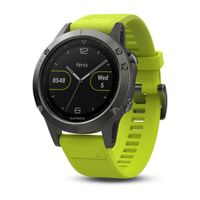 Garmin Fénix 5 Yellow, Black band
