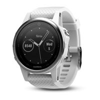 Garmin Fénix 5S Silver, White band