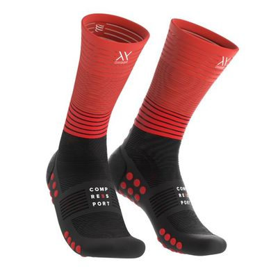 COMPRESSPORT Mid Compression Socks Red