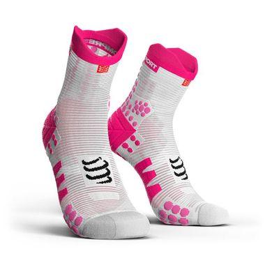 COMPRESSPORT Racing Socks V3.0 Run Hi Pink